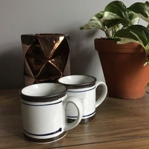 Set of 2 Vintage Ceramic Camp Style Mugs